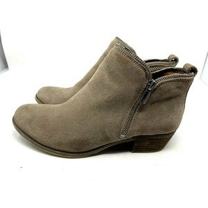 Lucky Brand Shoes - Lucky Brand Tan Suede Zip Ankle Boots 1745